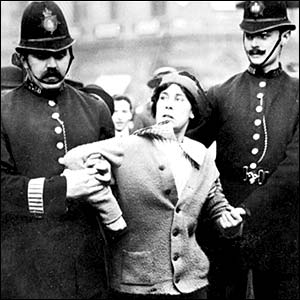 Suffragettes arrest